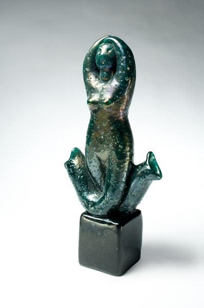 """NAPOLEONE MARTINUZZI GLASS SCULPTURE, SIRENA,"""" CA. 1933."""