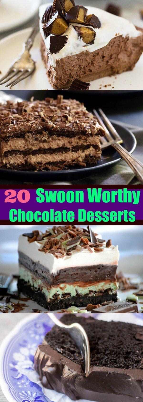 20 Swoon-Worthy Chocolate Desserts
