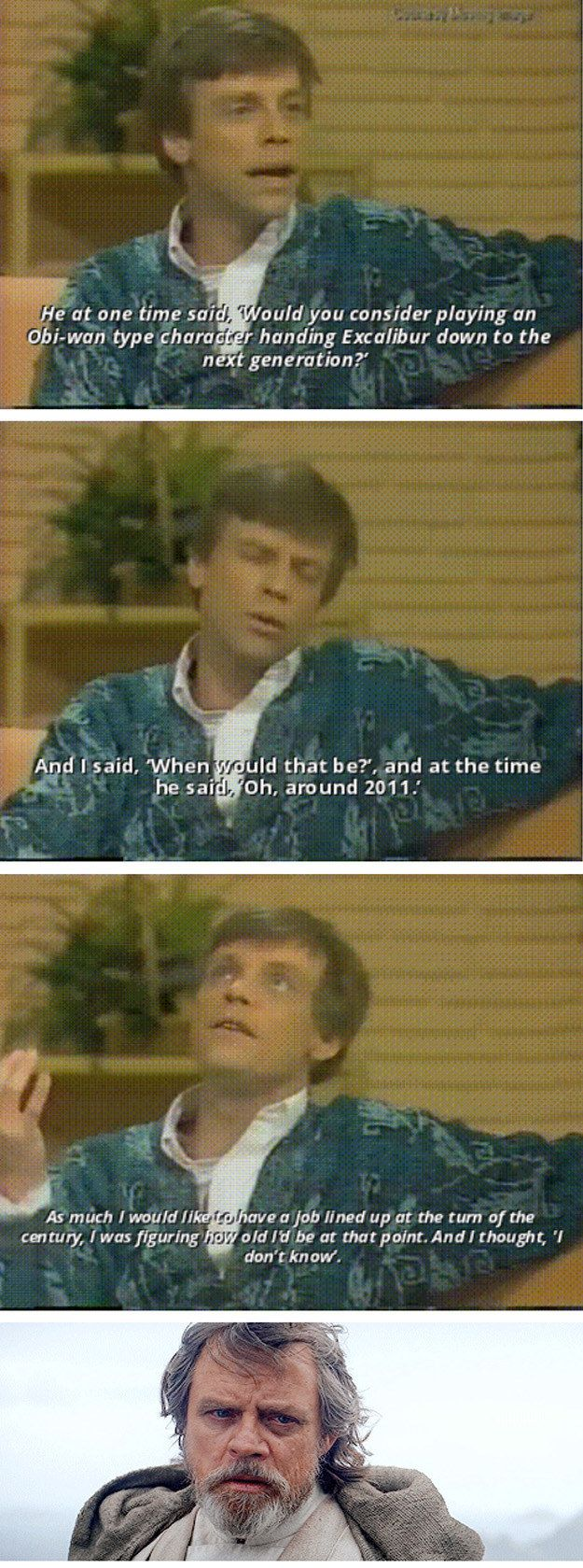And, of course, when he and George Lucas set him up as Star Wars' Jedi dad YEAAAARS ago. | 15 Times Mark Hamill Was The Fandom Dad We've Always Needed