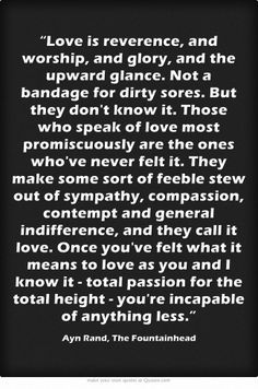 ayn rand quotes on love - Google Search