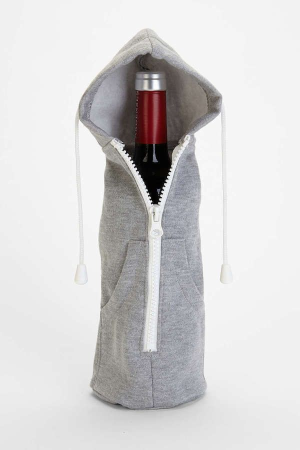 A Hoodie Sweatshirt To Keep Your Favorite Bottle Of Wine Snug And Cozy - DesignTAXI.com