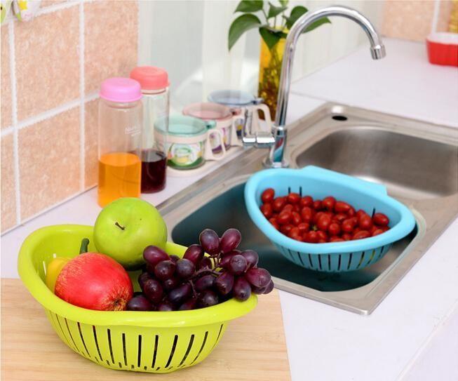 Fruits Vegetables Sink Hanging Drain Basket Holder