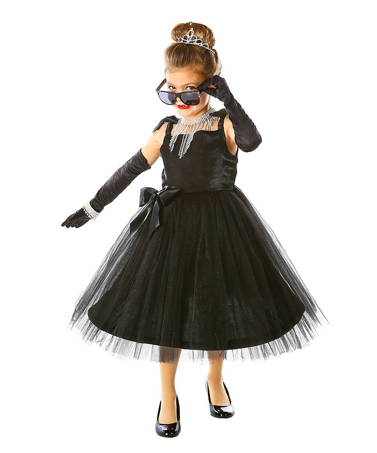 Black Movie Star Dress-Up Outfit - Kids