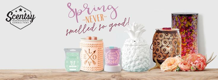 Spring never smelled so good with Scentsy! New catalog, New Warmers, New Scents!