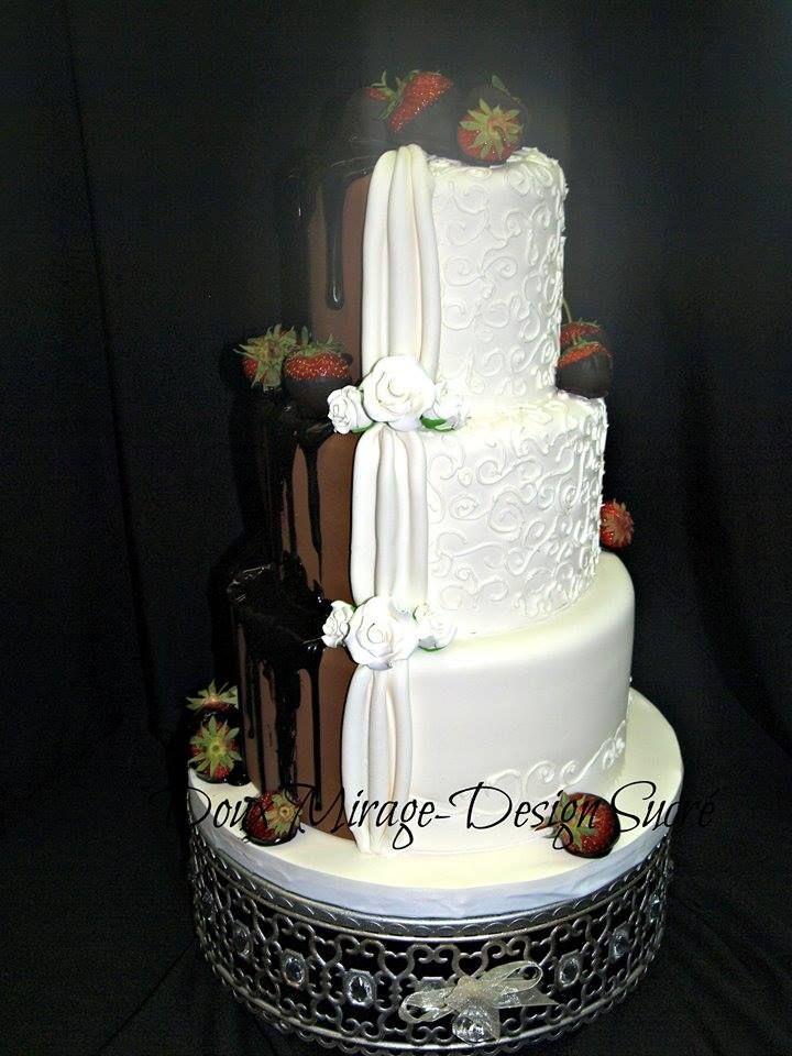 Gâteau pour un 40e anniversaires de mariage