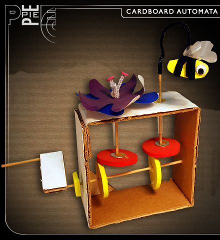 "I really like this idea of a bee going around a flower. This is a cool ""Automata"" sculpture. I feel like we have to do motions that are a little harder though."