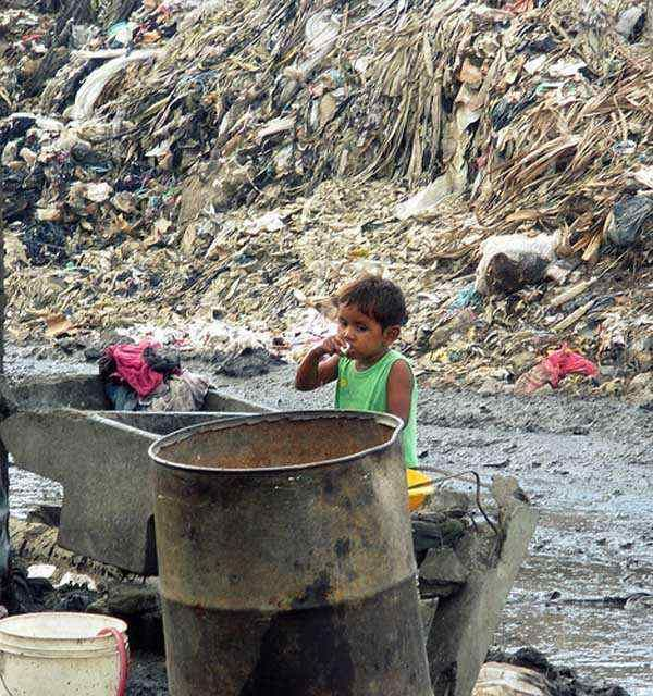 City global in naked slum struggle