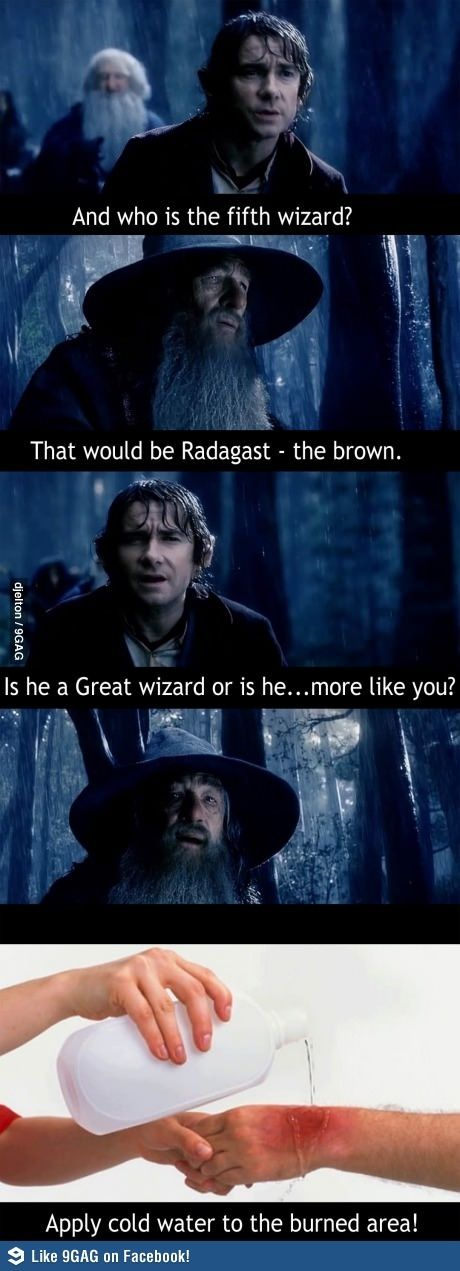 So Gandalf, will you be needing some treatment for that gigantic burn?
