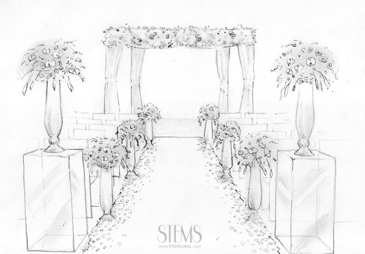The ceremony site will feature a chuppah the front and two tall Lucite risers flanking the back of the aisle with tall clear vases topped with white hydrangeas, café au lait dahlias, quicksand roses, burgundy astilbe, burgundy dahlias, Italian ruscus, and silver dollar eucaluptus with cut glass votives sprinkled around the base.