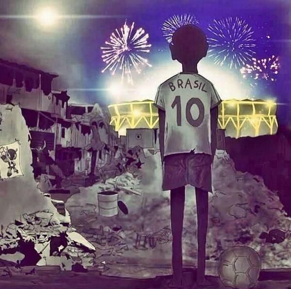 The true reality of Brazil #worldcup2014
