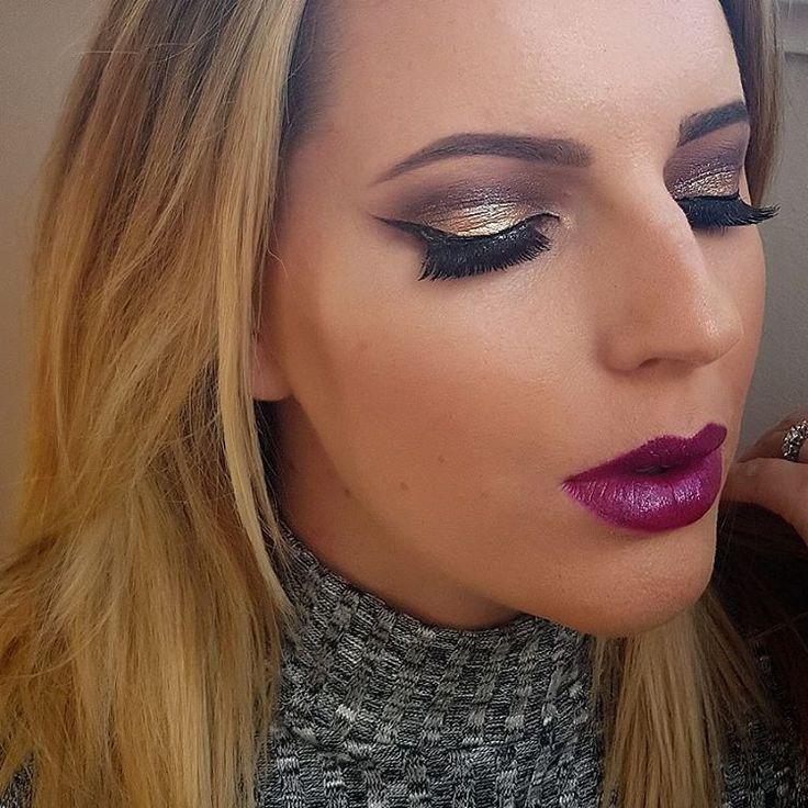 "EloiseRose💋 (@eloisefair) on Instagram: ""Metallix, wings and bold lips 💗💋 - #nofilter #eyebrows #wintervibes #winterfashion #fashionistas…"""