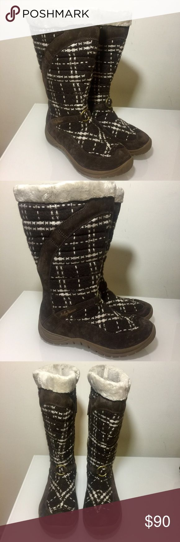 HELLY HANSEN  WINTER ALL-WEATHER BOOTS NWOT HELLY HANSEN WINTER ALL- WEATHER BOOTS  SUPER WARM AND SOFT INSIDE. WATER REPELLENT WITH NICE THICK NON SLIP RUBBER SOLES.  BROWN SUEDE WITH WOOL Helly Hansen Shoes Winter & Rain Boots