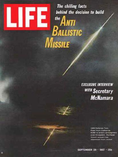 Life Magazine Copyright 1967 Anti Ballistic Missile Test - Mad Men Art: The…