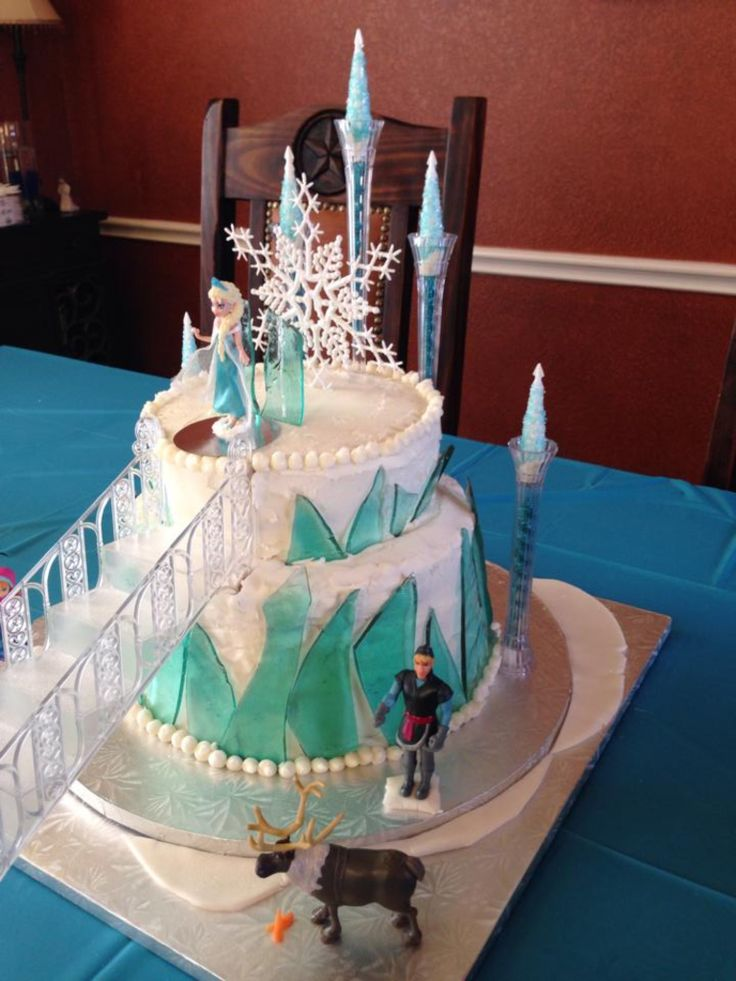 Frozen cake | Toddler Birthday Party Ideas | Pinterest ...