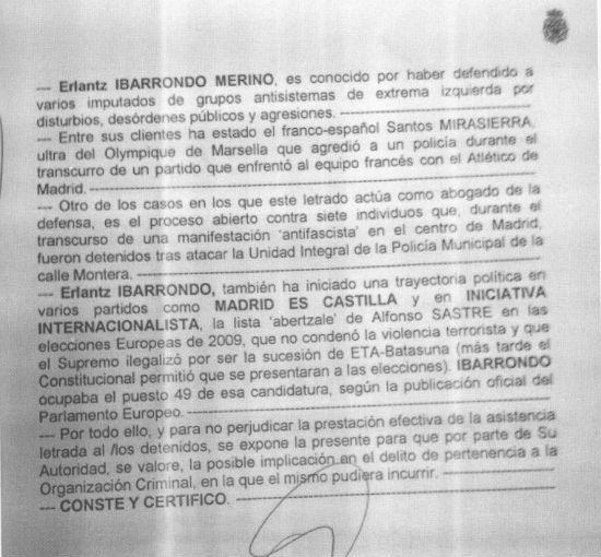 El Colegio de Abogados de Madrid ampara a un letrado al que la policía señala por su perfil político