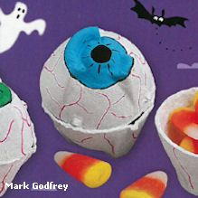 turn egg cartons into eerie eyeball candy cups for halloween from ranger rick magazine - Halloween Cartons