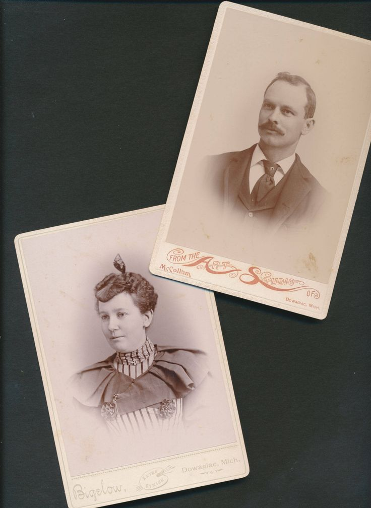 in my  #etsy shop: 2 antique cabinet cards ID'd couple, Mr. and Mrs. Will Jones, Dowagiac, Michigan, 1880's http://etsy.me/2EyFhgO #art #photography #epsteam #cabinetphotographs #antiquephotographs #1800s1880s #studioportraits #coupl