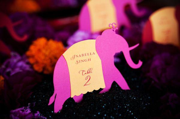 Bollywood Wedding Escort Card