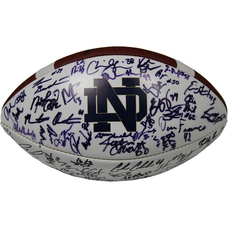 Notre Dame Multi-Signed White Panel Football