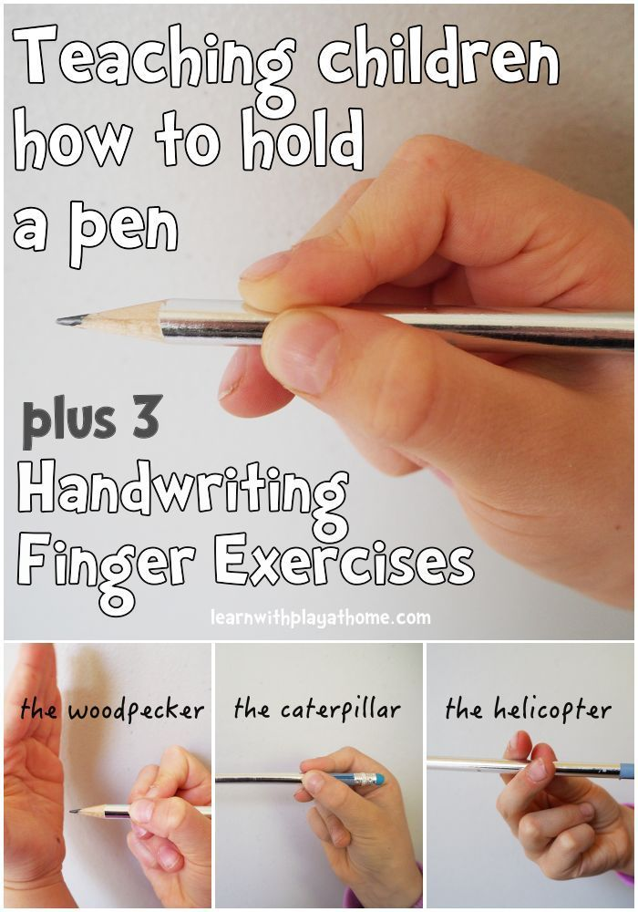 Finger Exercises For Kids Learning Handwriting And How To