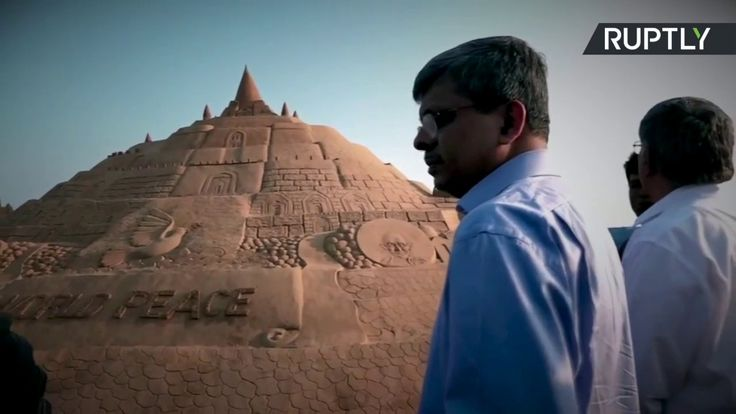 Indian Sand Artist Breaks Record for World's Tallest Sandcastle
