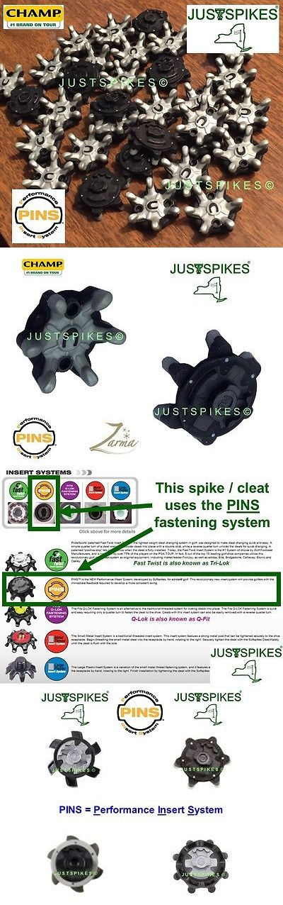 Golf Spikes 66814: 64 Zarma Pins Grey/Black Performance Insert System Golf Spikes Champ Justspikes BUY IT NOW ONLY: $41.7