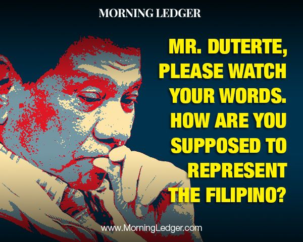 Rodrigo Duterte Could Be Worst PH President - Already Messing Up Foreign Relations - http://www.morningledger.com/rodrigo-duterte-could-be-worst-ph-president-already-messing-up-foreign-relations/1367924/