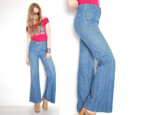 vintage 70s jeans, jeans levis, fondo campana dell