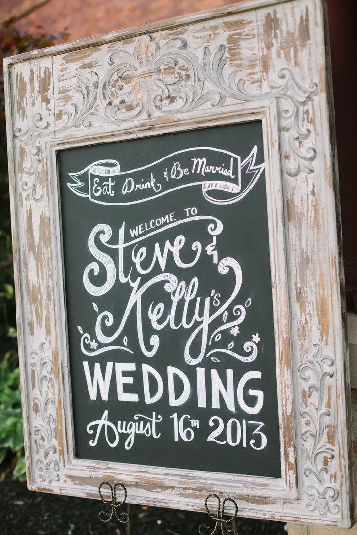 The Hottest Wedding Trend Chalkboard Pieces Personalized