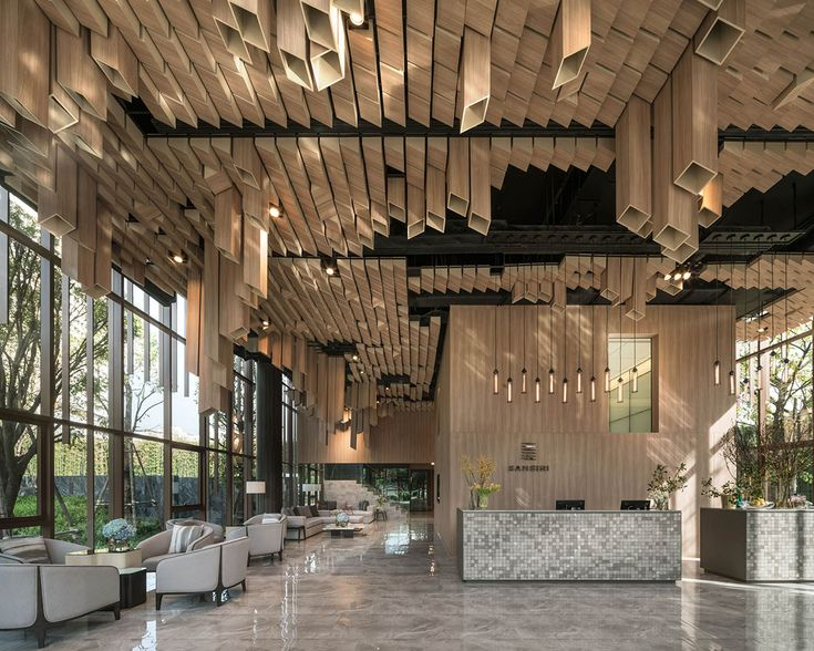 Anonym creates sculptural ceiling for Oka Haus sales gallery in Bangkok