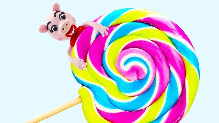 Peppa Pig Episodes GIANT Lollipops Candy | Peppa Pig en Español Animatio...