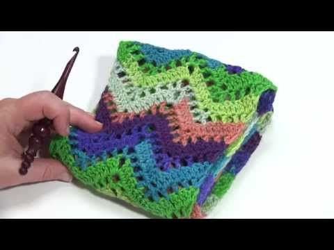 #Crochet Video Tutorial: Chevron Lace Infinity Scarf - Moogly