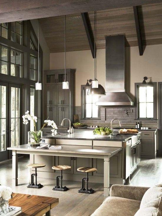 kitchen , rustic meets modern
