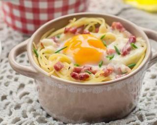 Carbonara allégée aux restes de spaghetti : http://www.fourchette-et-bikini.fr/recettes/recettes-minceur/carbonara-allegee-aux-restes-de-spaghetti.html