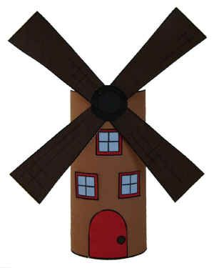 Windmill TP Roll Craft for Holland or Germany study