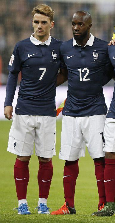 Antoine Griezmann and Lassana Diarra.  France NT.