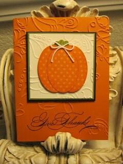 Pumpkin/fall card - using oval punch?