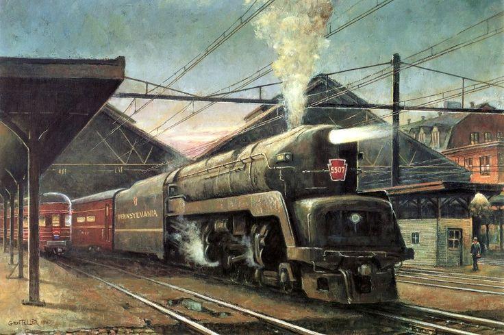Duplex Locomotive T1 5507 Train By Grif Teller Westbound Train At