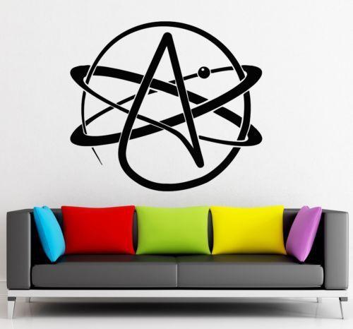 Бесплатная доставка/Атеизм Религия Наука Атомов Химии стены наклейки home decor Виниловые Настенные Обои