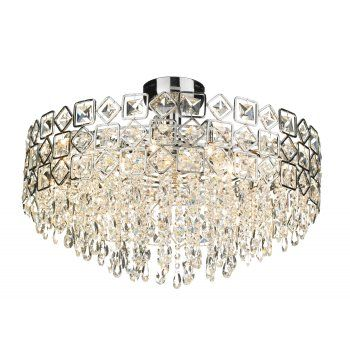 Buy Modern Crystal Ceiling Light For Lower Ceilings.