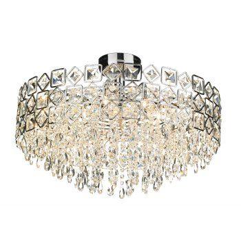 Buy Modern Crystal Ceiling Light For Lower Ceilings.