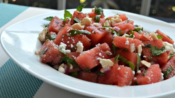 Photo of Herb Watermelon Feta Salad by Michelle English