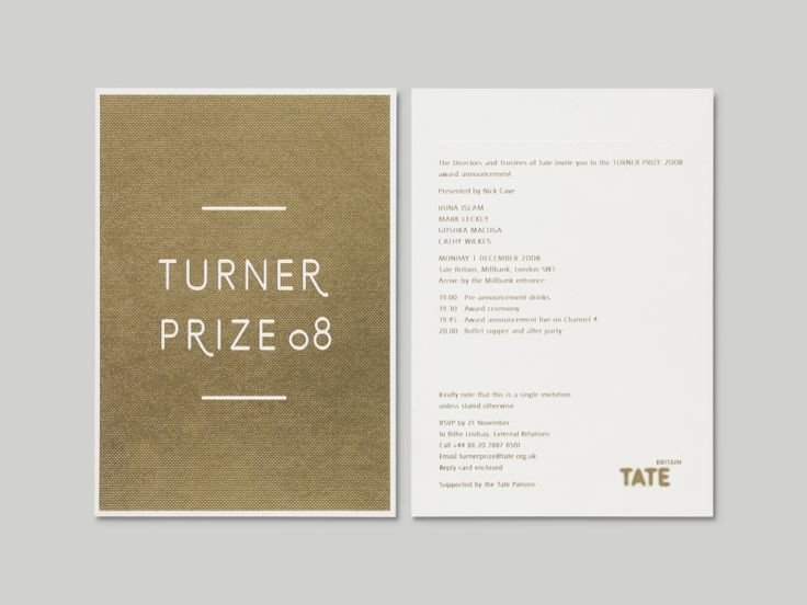 Visual identity for The Turner Prize by A Practice for Everyday Life