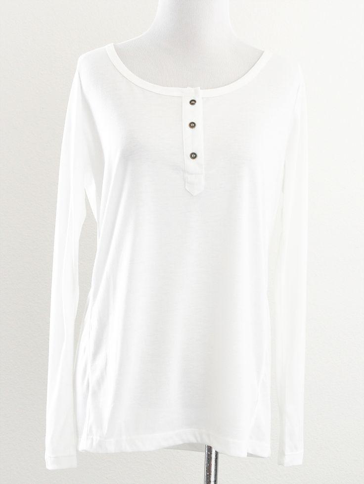 Tautmun - CESMA HENLEY TOP - WHITE, $14.99 (http://www.tautmun.com/cesma-henley-top-white/)