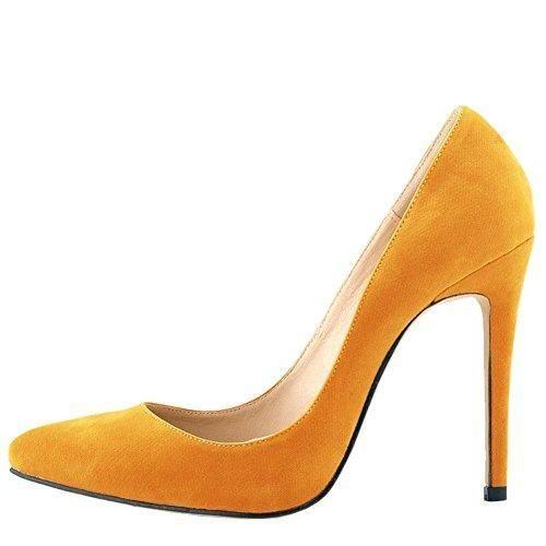 Oferta: 20.71€ Dto: -16%. Comprar Ofertas de OCHENTA Mujer en muchos colores zapatos de tacon de terciopelo de un banquete de boda Naranja 39 barato. ¡Mira las ofertas!