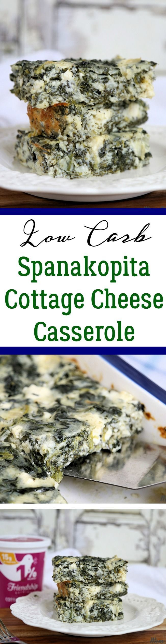Low Carb Spanakopita Cottage Cheese Casserole recipe