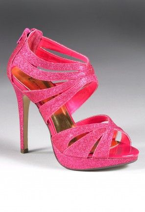 Shoes - High Heel Glitter Zipper Back Sandal from Camille La Vie and Group USA prom