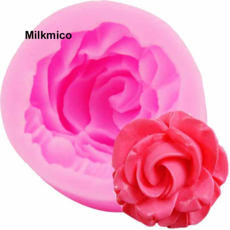 Rose mold for fondant cake mold   Silicone bakeware 3D liquid mold