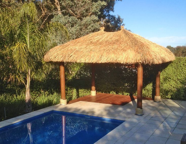 Bali Hut Entertaining area from Aarons - Without a Deck