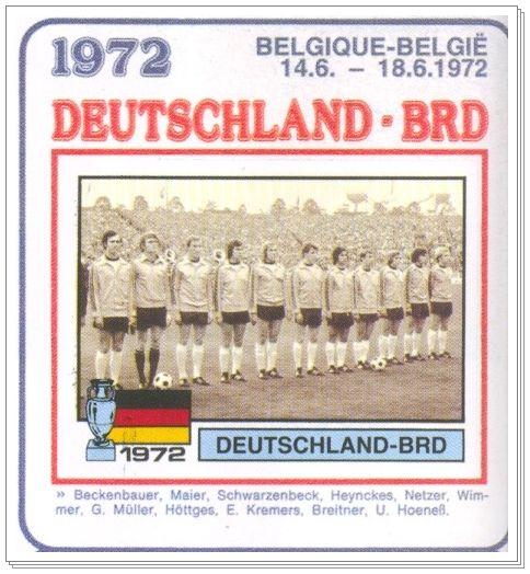 Alemania, campeón de la Eurocopa de 1972